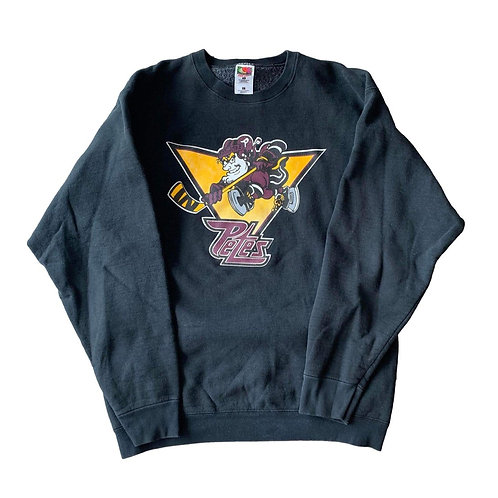 Vintage Peterborough Petes Crewneck Sweater By Fruit Of The Loom