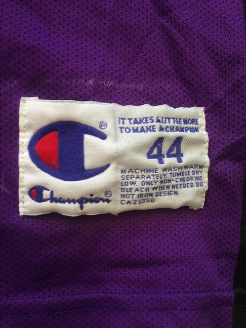 a1279a45f34 Size 44 (L) Made by Champion Fair condition Cracking on front and back  numbers Marking near the size tag.
