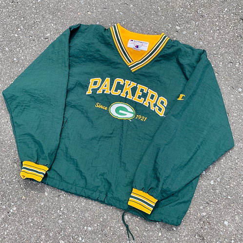 Vintage Green Bay Packers Pullover Jackey By Champion