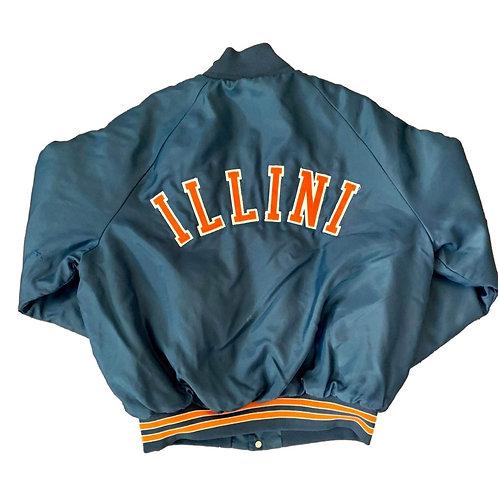 Vintage Illinois Fighting Illini Jacket By Pro Fit