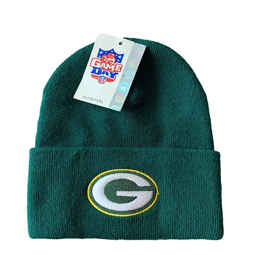 Vintage Green Bay Packers Beanie Winter Hat By Twins