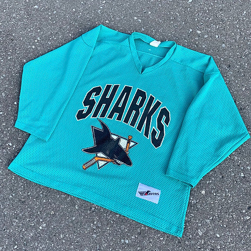 Vintage San Jose Sharks Nhl Hockey Jersey By Ravens