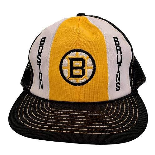 Vintage Boston Bruins Meshback Snapback Hat By Twins