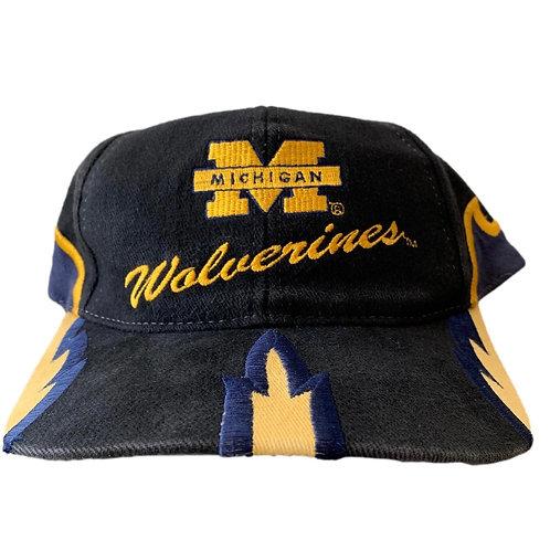 Vintage Michigan Wolverines Snapback Hat By Boxseat