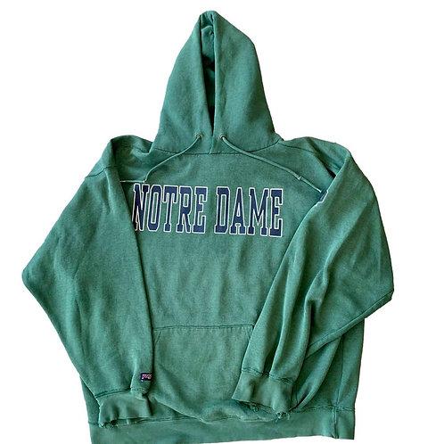 Vintage Notre Dame Irish Hoodie Sweater By Jan Sport