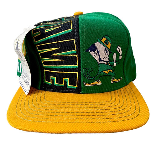 Vintage Notre Dame Irish Snapback Hat By Top Of The World