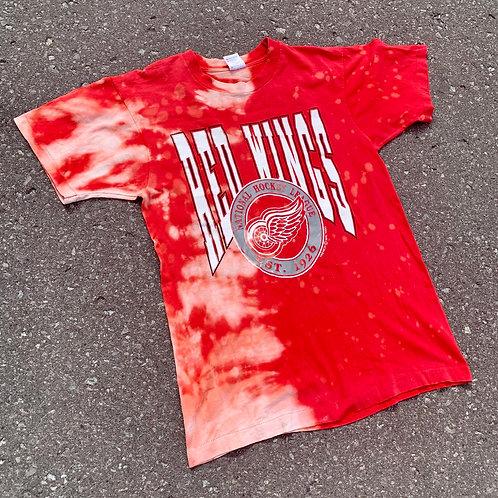 Vintage Detroit Red Wings Tie Dye T Shirt By Fruit Of The Loom