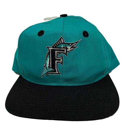 Vintage Florida Marlins Plain Logo Snapback Hat By Annco