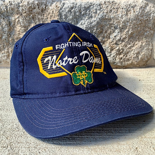 Vintage Notre Dame Irish Strapback Snapback Hat By Top Of The World