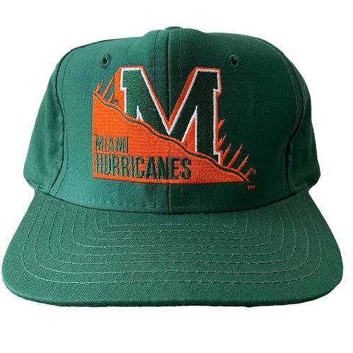 Vintage Miami Hurricanes Snapback Hat By Signature