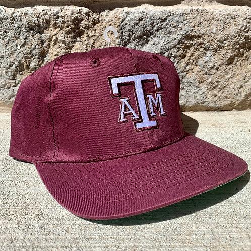 Vintage Texas A&M Snapback Hat By Cobra Cap