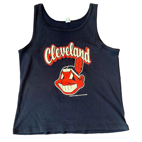 Vintage Cleveland Indians Tank Top By Champion
