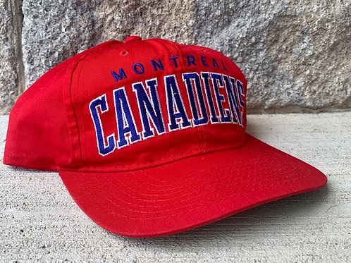 Vintage Montreal Canadiens Starter Arch Snapback Hat
