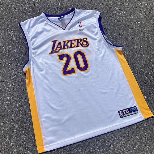 Vintage Los Angeles Lakers Gary Payton Jersey By Reebok