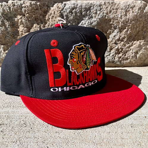 Vintage Chicago Blackhawks Snapback Hat By Twins
