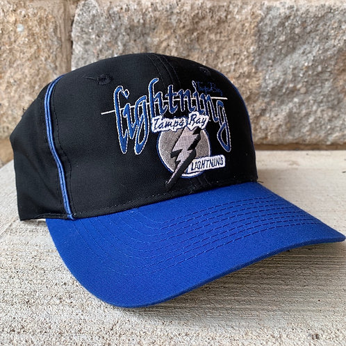 Vintage Tampa Bay Lightning Snapback Hat By The Game
