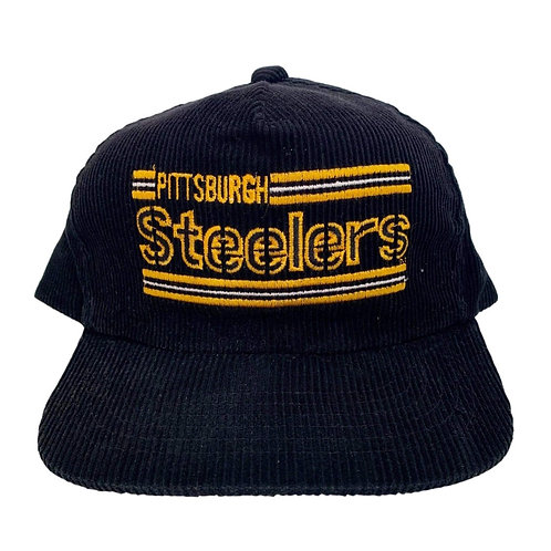 Vintage Pittsburgh Steelers Cord Snapback Hat By Drew Pearson