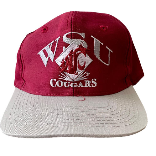 Vintage Washington State Cougars Snapback Hat By Signature