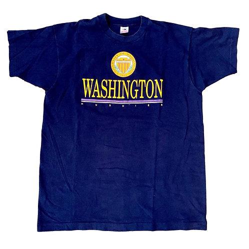 Vintage Washington Huskies T Shirt By Fruit Or The Loom