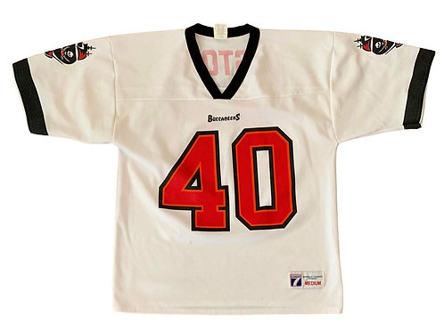 Vintage Tampa Bay Buccaneers Mike Alsott NFL Football Jersey By Logo 7
