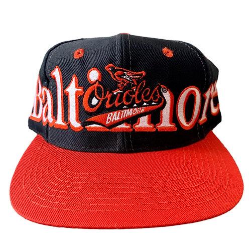 Vintage Baltimore Orioles Snapback Hat By Logo 7