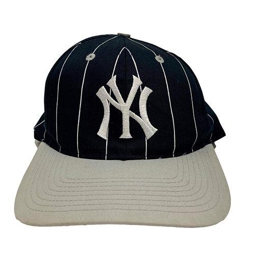Vintage New York Yankees Pinstripe Snapback Hat By Twins
