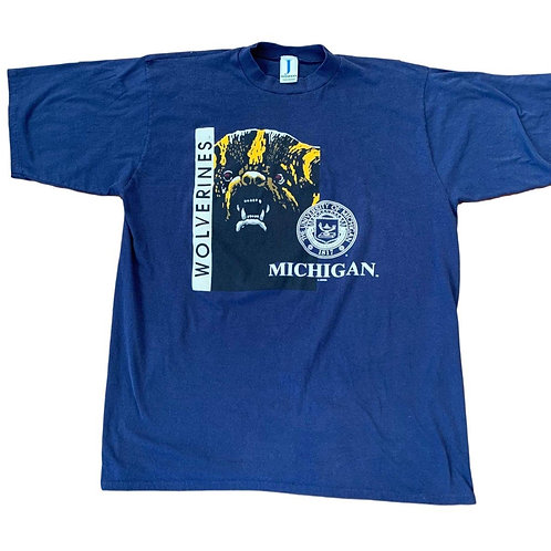 Vintage Michigan Wolverines T Shirt By Jostens