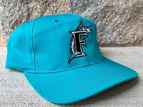 Vintage Florida Marlins Plain Logo Snapback Hat By Starter