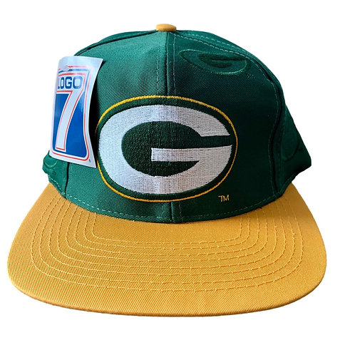 Vintage Green Bay Packers Snapback Hat By Logo 7