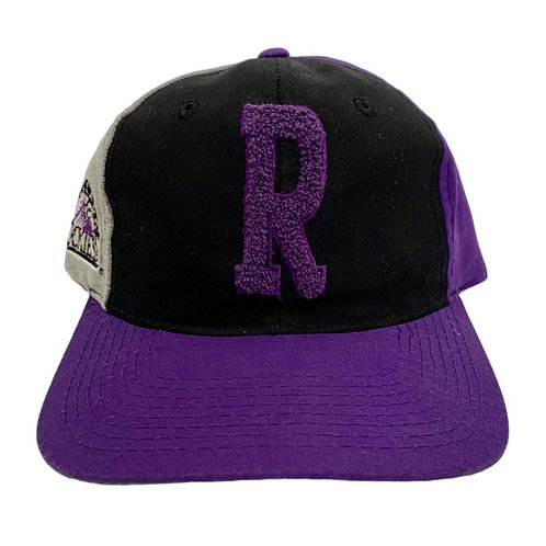 Vintage Colorado Rockies Letterman Snapback Hat By Starter
