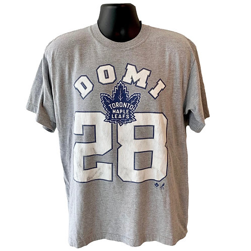 Vintage Toronto Maple Leafs Tie Domi T Shirt By Classic