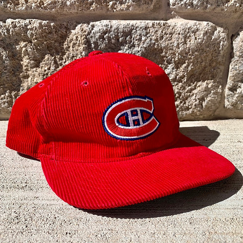 Vintage Montreal Canadians Cord Snapback Hat By Ted Fletcher