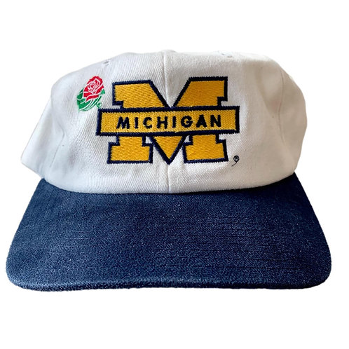 Vintage Michigan Wolverines Snapback Hat By Starter