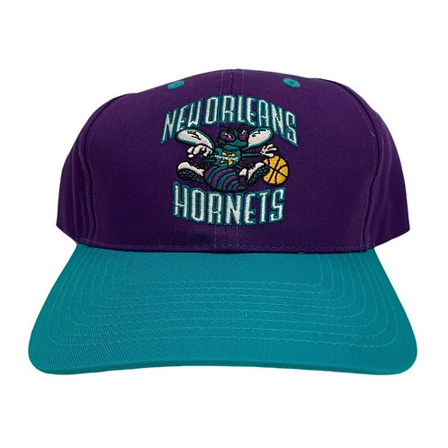Vintage New Orleans Hornets Snapback Hat By Twins