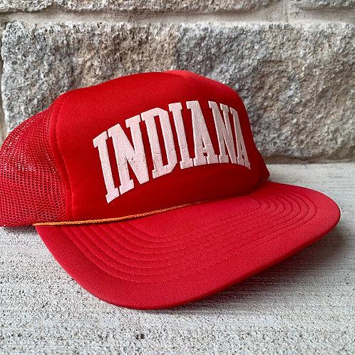 Vintage Indiana Hoosiers Snapback Meshback Hat By Unique