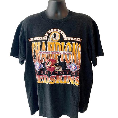 Vintage Washington Redskins T Shirt By Fruit Of The Loom