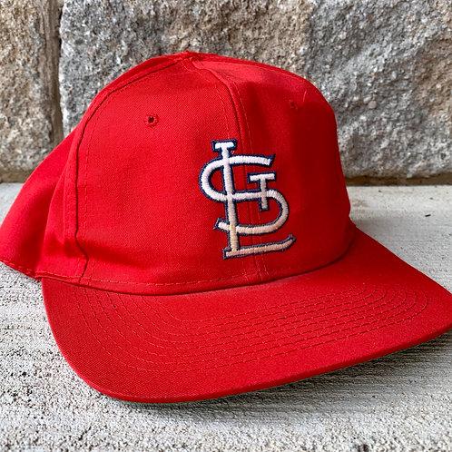 Vintage St Louis Cardinals Plain Logo Snapback Hat By Signature