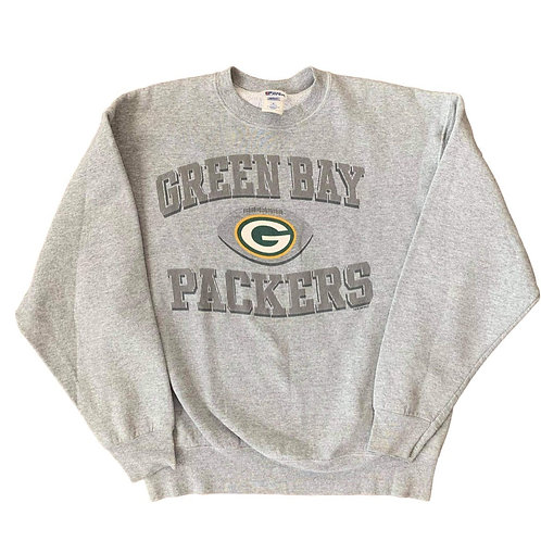 Vintage Green Bay Packers Crewneck Sweater By Pro Player