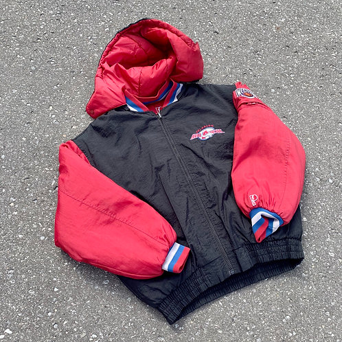 Vintage Colorado Avalanche Reversable Winter Jacket By Pro Player