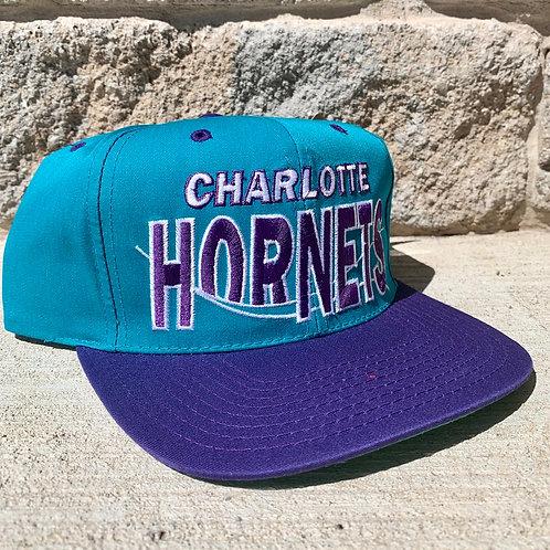 Vintage Charlotte Hornets G Cap Wave Snapback Hat