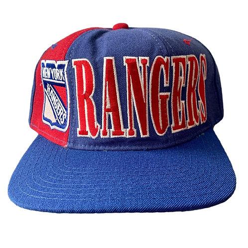 Vintage New York Rangers Snapback Hat By Starter