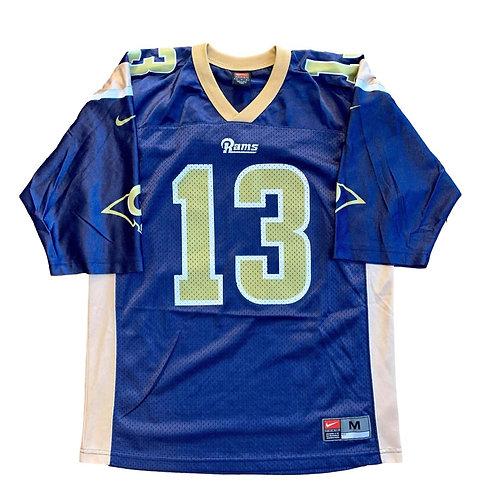 Vintage St Louis Rams Kurt Warner NFL Football Jersey By Nike