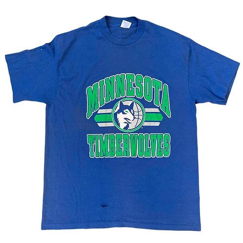 Vintage Minnesota Timberwolves T Shirt By Trench