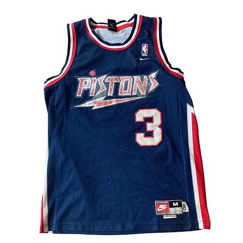 Vintage Detroit Pistons Ben Wallace NBA Basketball Jersey By Nike