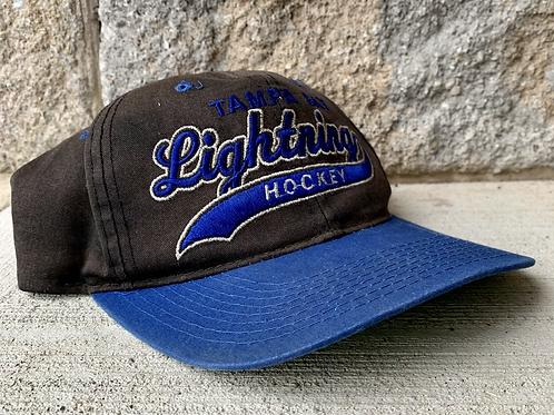 Vintage Tampa Bay Lightning Starter Script Snapback Hat