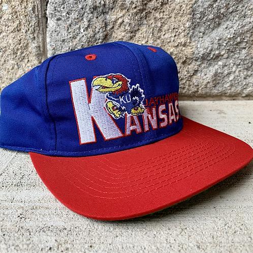 Vintage Kansas Jayhawks Snapback Hat By Logo 7