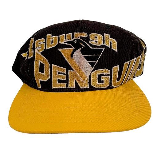 Vintage Pittsburgh Penguins Snapback Hat By Apex One