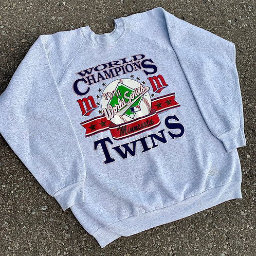 Vintage Minnisota Twins Crewneck Sweater By Frut Of The Loom