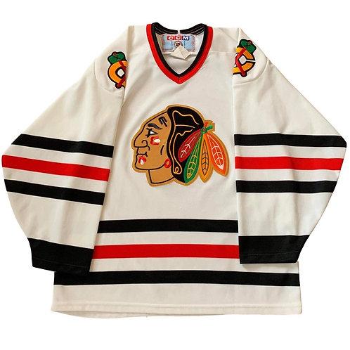 Vintage Chicago Blackhawks NHL Hockey Jersey By CCM