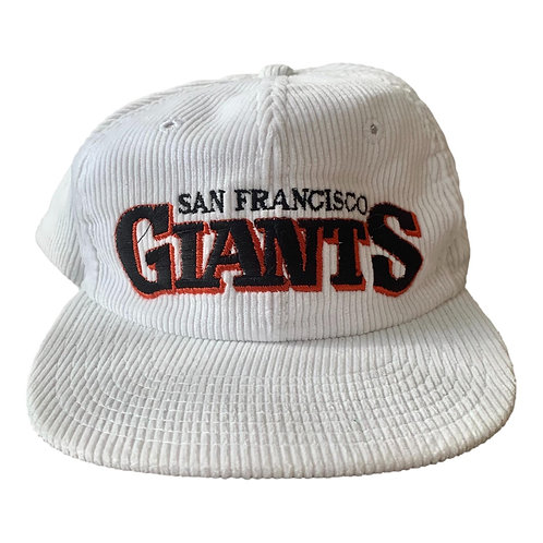 Vintage San Francisco Giants Cord Snapback Hat By Twins